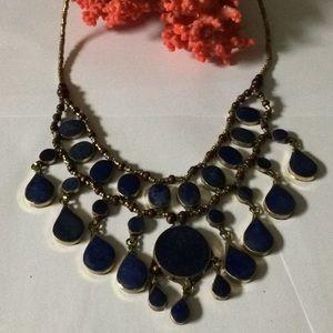 Antique lapis necklace